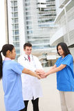 Happy Successful Medical Team Stock Photos