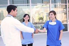 Happy Successful Medical Team Stock Photo