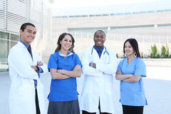Happy Successful Medical Team stock image