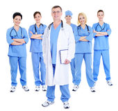 Happy successful team of doctors Royalty Free Stock Photo