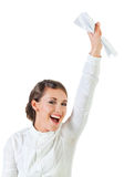Happy successful young businesswoman Stock Image