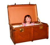 Happy suitcase Royalty Free Stock Photography
