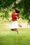Happy in summer Stock Image