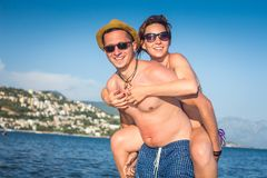 Happy Summer Couple Royalty Free Stock Image
