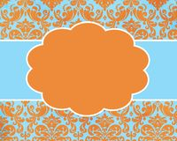 Happy Summer Damask Card Background Template Stock Photography