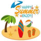 Happy Summer Design Royalty Free Stock Photos