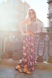 Happy summer fashion girl stock photography
