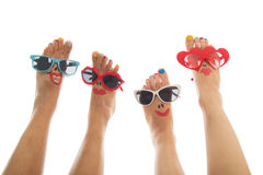 Happy summer feet Stock Photography