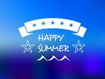 Happy summer five star banner Royalty Free Stock Photography