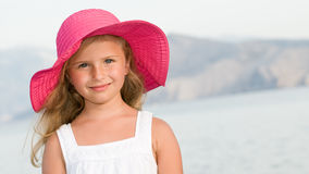 Happy summer girl Royalty Free Stock Images