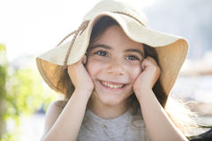 Happy summer girl Stock Image