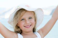 Happy summer girl portrait Stock Images