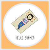 Happy summer girl1 Royalty Free Stock Images