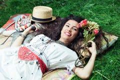 Happy summer girl Royalty Free Stock Photos