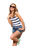 Happy summer girl. Stock Images