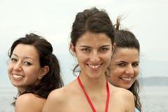 Happy summer girls Stock Photos