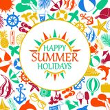 Happy summer holiday Royalty Free Stock Image