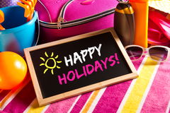 Happy summer holidays card Royalty Free Stock Image