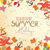 Happy summer holidays Stock Photography