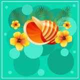 Happy summer holidays. Summer holiday theme for poster, card, flyer. etc Royalty Free Stock Images