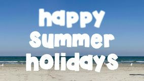 Happy summer holidays stock footage