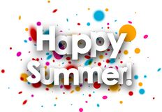 Happy summer paper background. royalty free illustration