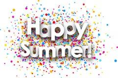 Happy summer paper card. stock illustration