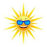 Happy summer sun. On white background Royalty Free Stock Photo
