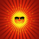 Happy Summer Sun Burst Background Stock Photography