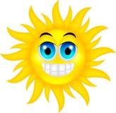 Happy summer sun. Illustration of happy summer sun isolated on white Royalty Free Stock Photography
