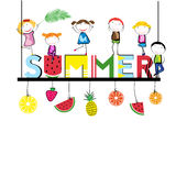 Happy summer - time for children Stock Photo