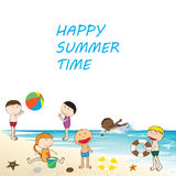 Happy summer time Royalty Free Stock Images