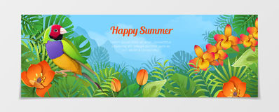 Happy summer tourism travel agency web vector illu Royalty Free Stock Image