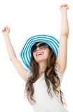 Happy summer woman Royalty Free Stock Photo