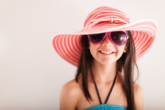 Happy summery girl Royalty Free Stock Photos
