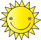 Happy Sun. Cool sun  illustration line Stock Photos