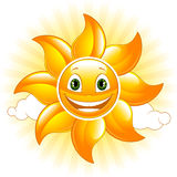 Happy sun. Cartoon happy sun. Vector illustration Royalty Free Stock Photography