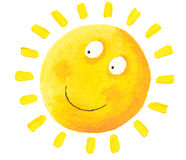 Happy Sun. Acrylic illustration of Happy Sun Royalty Free Stock Images