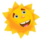 Happy sun. In a white background Stock Image
