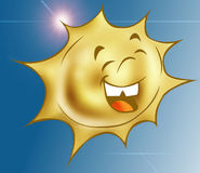 Happy sun 2. The Sun smilling royalty free illustration
