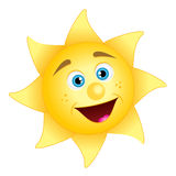 Happy sun. Vector illustration of happy sun Stock Photos