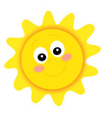 Happy sun stock illustration