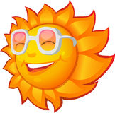 Happy sun. Character of a happy smiling summer sun Royalty Free Stock Image