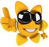Happy sun. Happy smiling sun, 3d generated picture Royalty Free Stock Photography