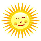 Happy sun. Cartoon character symbolizing summertime. Eps file available