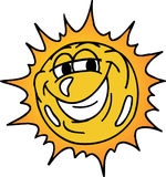 Happy Sun. Happy and smiling bright sun Stock Images