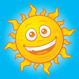 Happy Sun. Vector cartoon drawing of a happy sun stock illustration