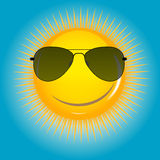 Happy Sun background vector illustration Royalty Free Stock Images