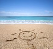 Happy sun on the beach Royalty Free Stock Photo