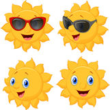 Happy sun cartoon character Royalty Free Stock Image